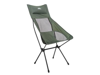 Trespass Roost - Hopfällbar campingstol hög - Lätt modell - Oliv