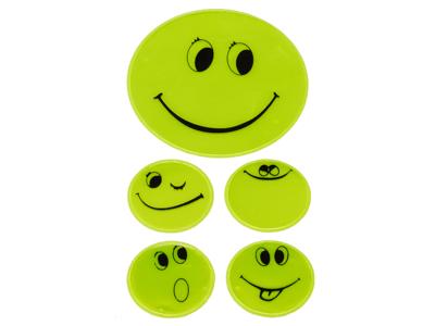 Reflexark med smileys Grön