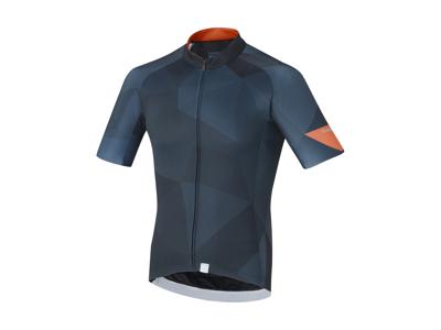 Shimano Breakaway - Cykeltrøje med korte ærmer - Navy blå