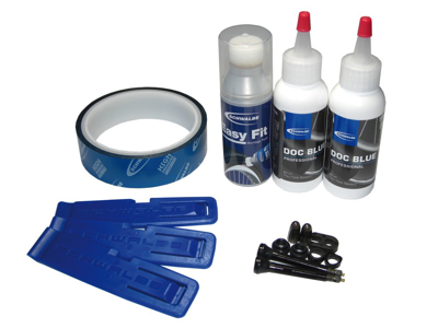Schwalbe Tubeless Easy Kit - Med 21 mm fälgtape - Ventiler m.m.