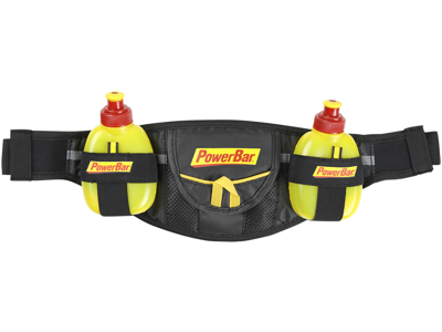 Powerbar - Bæltetaske - Sort/Gul - inklusiv 2 gel flasker