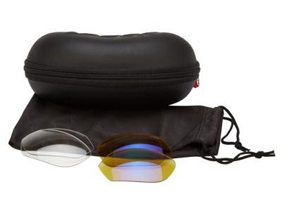 Lazer - Electron EC1 - Löpar/cykelglasögon - Utbytbara linser - Crystal Flash yellow