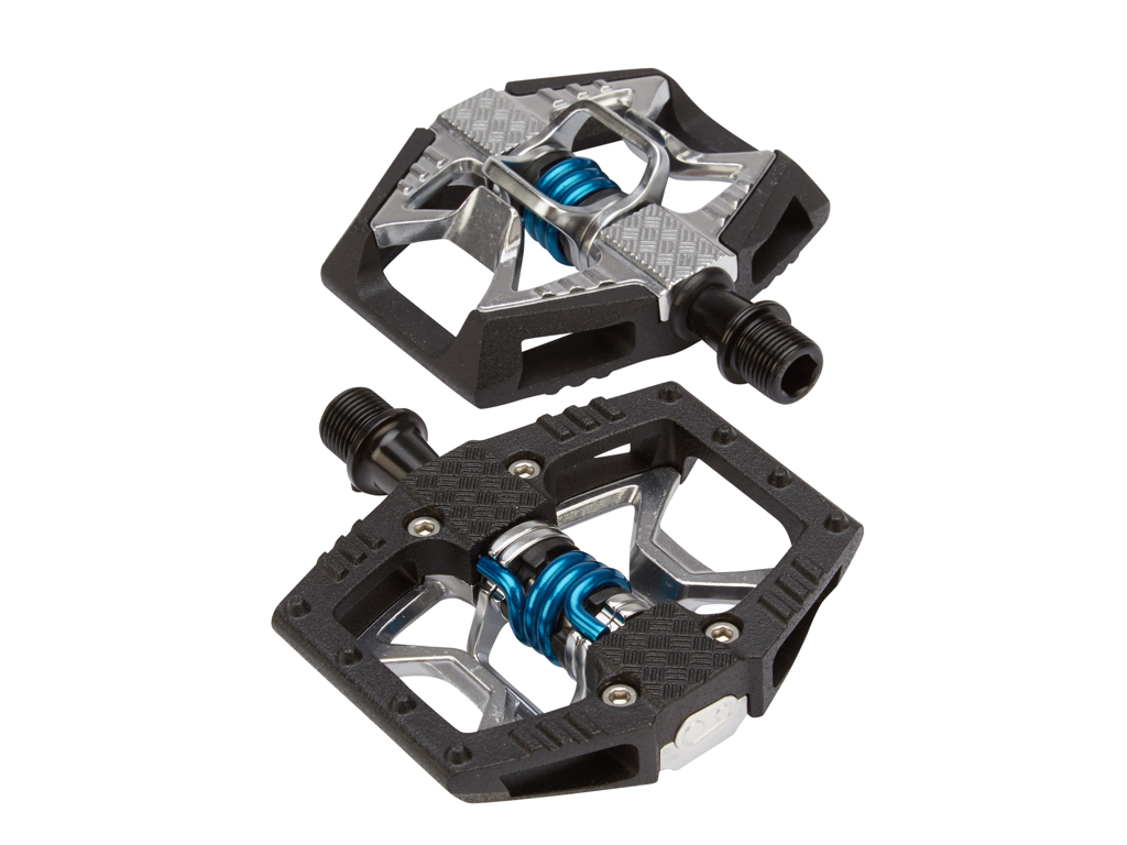Crankbrothers Double Shot - MTB kombipedal - Grå/svart/blå