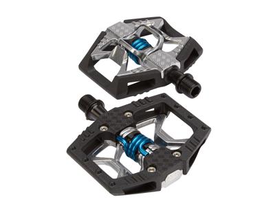 Crankbrothers Double Shot - MTB kombipedal - Grå/sort/blå