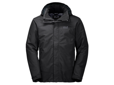 Jack Wolfskin Northen Edge Men - Vandtæt herrejakke m. for - Sort