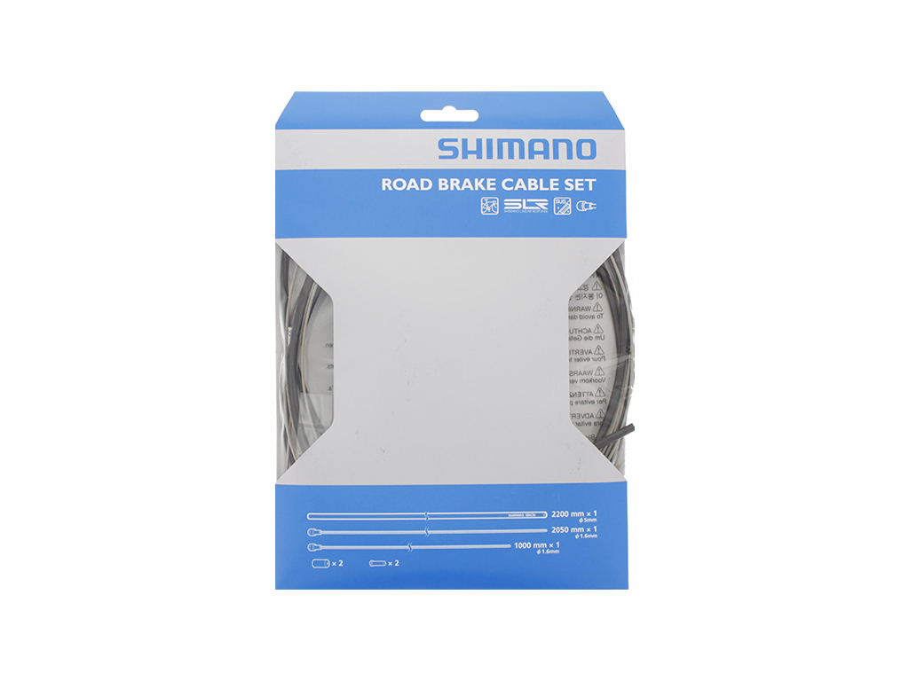 Image of   Shimano Bremsekabelsæt - Road Rustfri - For-og bagbremsekabel komplet - Sort