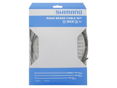 Shimano Bremsekabelsæt - Road Rustfri - For-og bagbremsekabel komplet - Sort