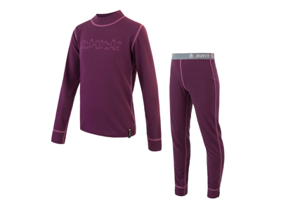 Sensor Double Face Kids Set - Ski Lingerie Kids - Purple