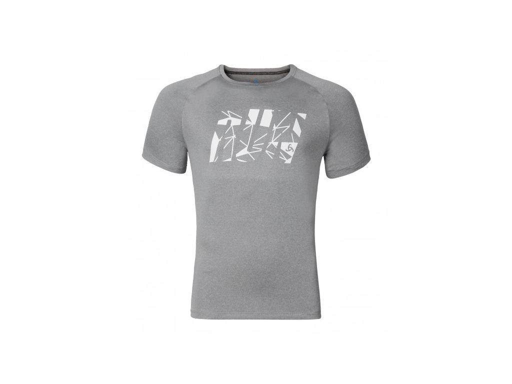Image of   Odlo - Raptor - Løbe t-shirt - Herre - Grå melange - Str. M
