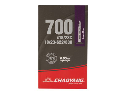 Chaoyang Superlight slange - 700x18-23c - 80mm racerventil