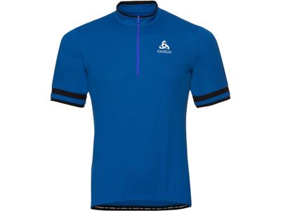 Odlo - Breeze Stand-up collar - Cykeltrøje med korte ærmer - Herre - Blå