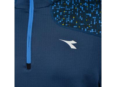 Diadora Warm Up T-Shirt Winter - Løbetrøje m. høj hals - Mørke Blå