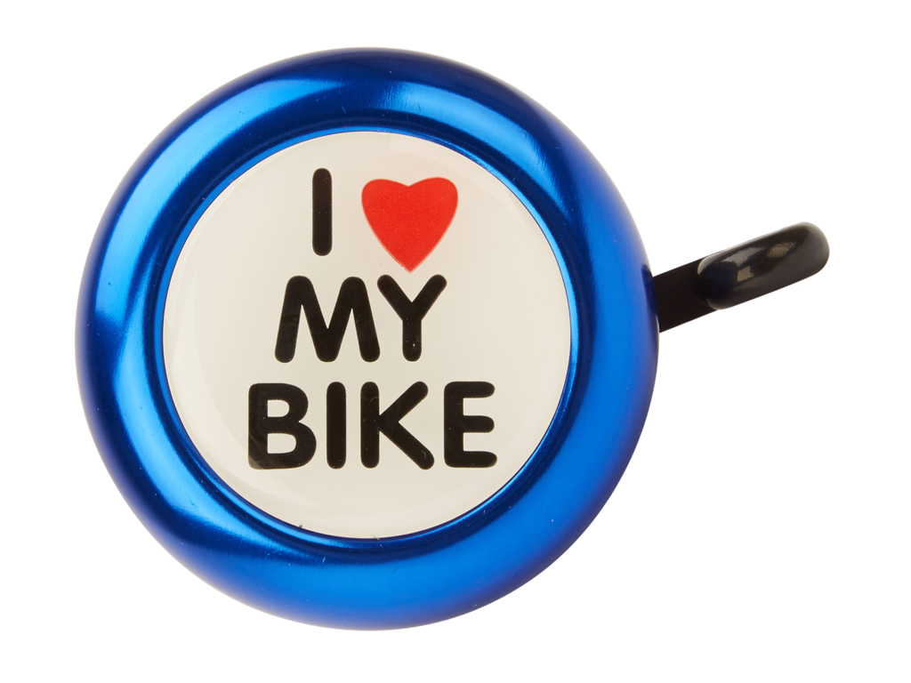 Image of   Atredo - Ringeklokke - I love my bike - Blå