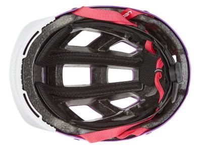 Abus Hyban cykelhjelm - Str. 52-58 cm - Lilla - Integreret lygte