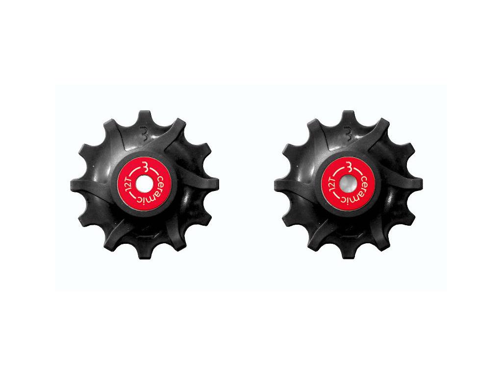 Image of   BBB - RollerBoys - BDP-16 - Pulleyhjul til Sram keramiske lejer - 12T - Sort
