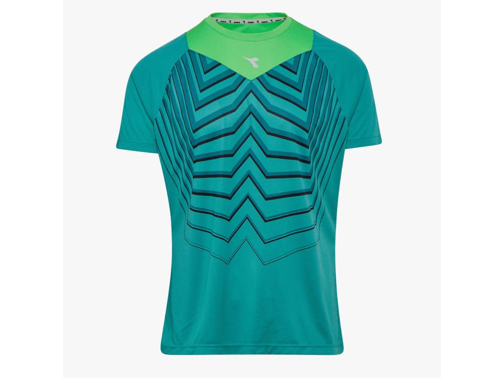Image of   Diadora - Bright SS T-shirt - Løbe t-shirt - Herre - Turkis/grøn - Str. XL