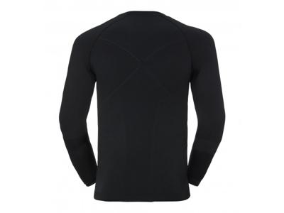 Odlo - Evolution Warm Shirt Crew Neck - Herre - Sort/Grå