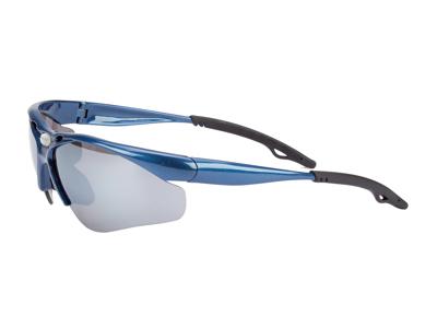 Glissado - Løbe- og cykelbrille - Metalblå.