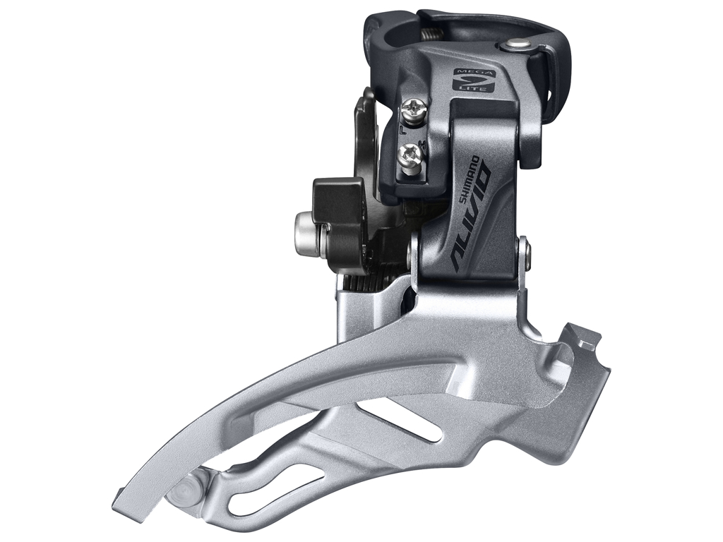 Image of   Shimano Alivio - Forskifter FD-M4000 - 3x9 gear MTB - Top clamp med bånd - 28,6-34,9mm