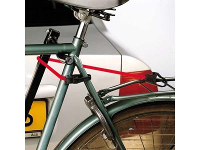 Jumbo bagagestropper med nylonkroge - 100cm - 2stk - Rød
