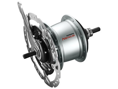Shimano Nexus - Gearnav med 8 gear til disk bremse 5 bolt - Type SG-C6060-8CD - Sølv