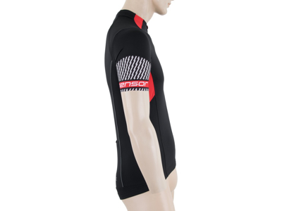Sensor Cyklo Race - Cykeltrøje med korte ærmer - Sort med print