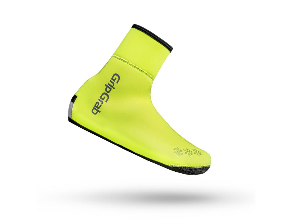GripGrab Arctic Waterproof Hi-Vis Winter 2028 - Isolerende skoovertræk - Neon Gul - Str. L thumbnail