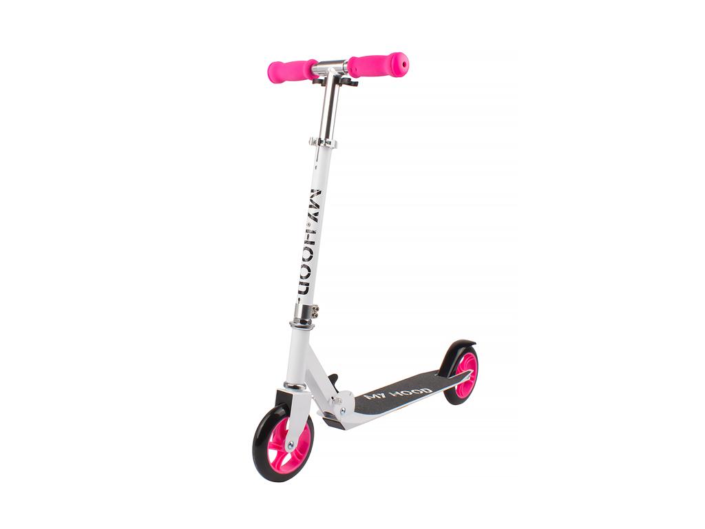 Image of   My Hood 145 - Løbehjul til børn - Hvid/Pink