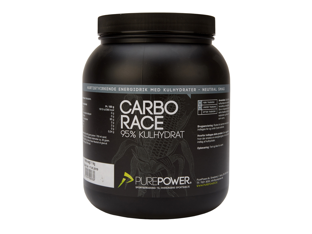 PurePower - Carbo Race - Energidryck - Neutral - 1 kg