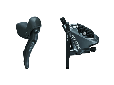 Shimano GRX - STI-greb, bremsekaliber og olieslange - 11 gear - Hydraulisk - RX810/RX810