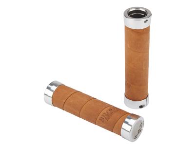 Brooks - Slender Aged - Håndtag - Læder - Brun - 130/100 mm