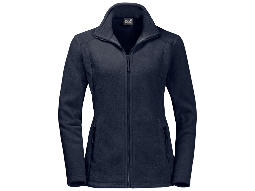Jack Wolfskin Midnight Moon Fleece jakke - Dame Str. S - Midnight blue thumbnail