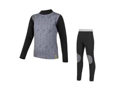 Sensor Flow - Skidunderkläder till barn - Svart och grå