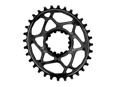 absoluteBLACK Oval klinge - Sram - Direct mount - Offset 6 mm - 32 tænder - Sort