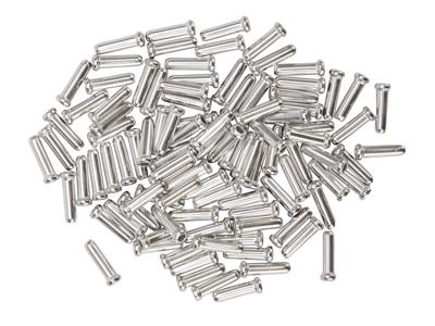Atredo - Ändhylsa till växel/bromsvajer - Silver - 100 st