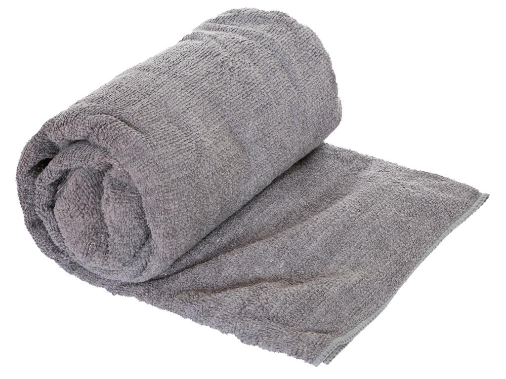 Billede af Trespass Transfix Change towel - Hurtigtørrende mikrofiber håndklæde - Grå - 80 x 140 cm