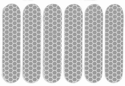 Refleks ark med 6 stk. Hvid | Reflectives