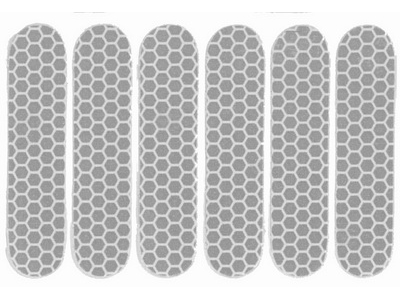 Refleks ark med 6 stk. Hvid