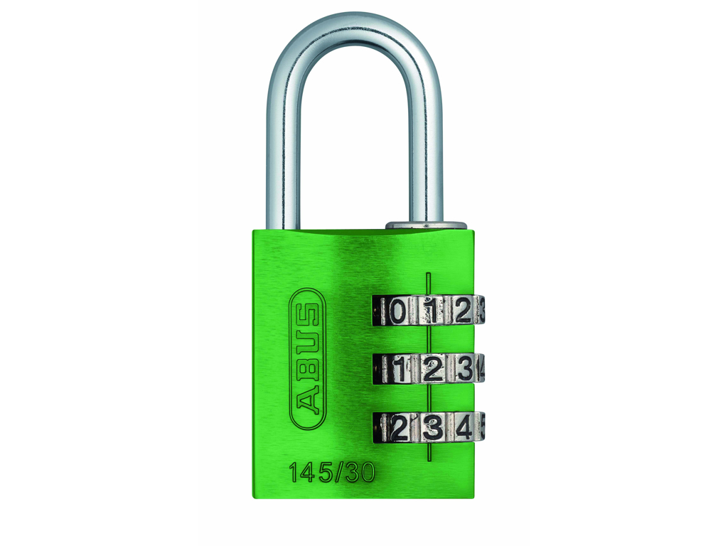 Image of   Hængelås Abus 145/30 grøn med trecifret kode