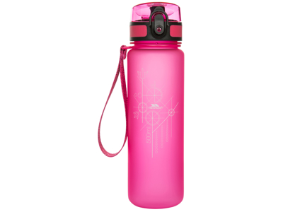 Trespass Flintlock - Vattenflaska 500ml - BPA-fri - Handledsrem - Rosa