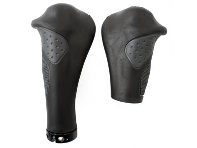 XLC GR-S22 - Ergonomiske udformet håndtag til drejegreb - Sort/grå