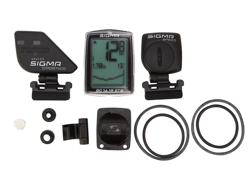 Sigma Sport BC 14.16 STS - Trådløs cykelcomputer med højdemåler og kadence - 24 funktioner