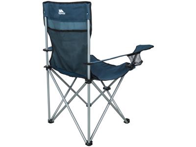 Trespass Settle - Hopfällbar campingstol med dryckhållare - Blå