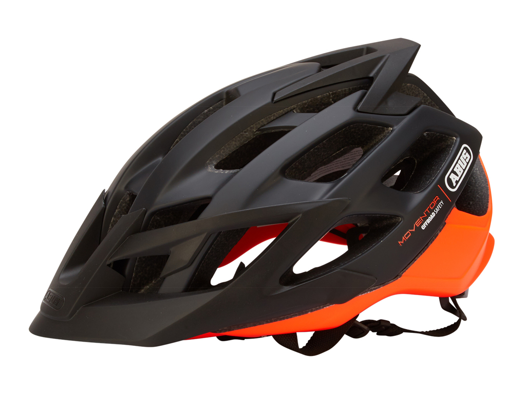 Image of   Abus Moventor - Cykelhjelm - Sort/orange - Str. 52-57cm
