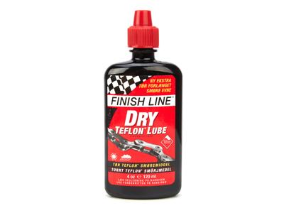 Olje Finish Line Dry Lube Teflon 120ml dryppflaske Rød