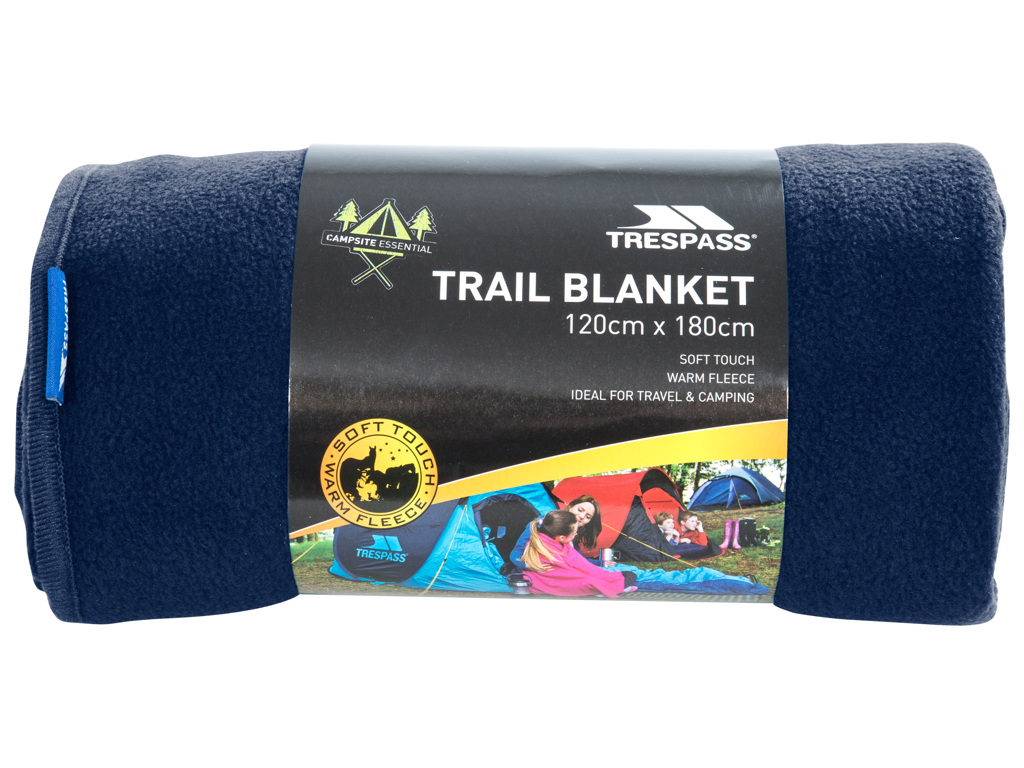 Trespass Snuggles - Tæppe 120 x 180cm - Fleece - Navy Blue thumbnail