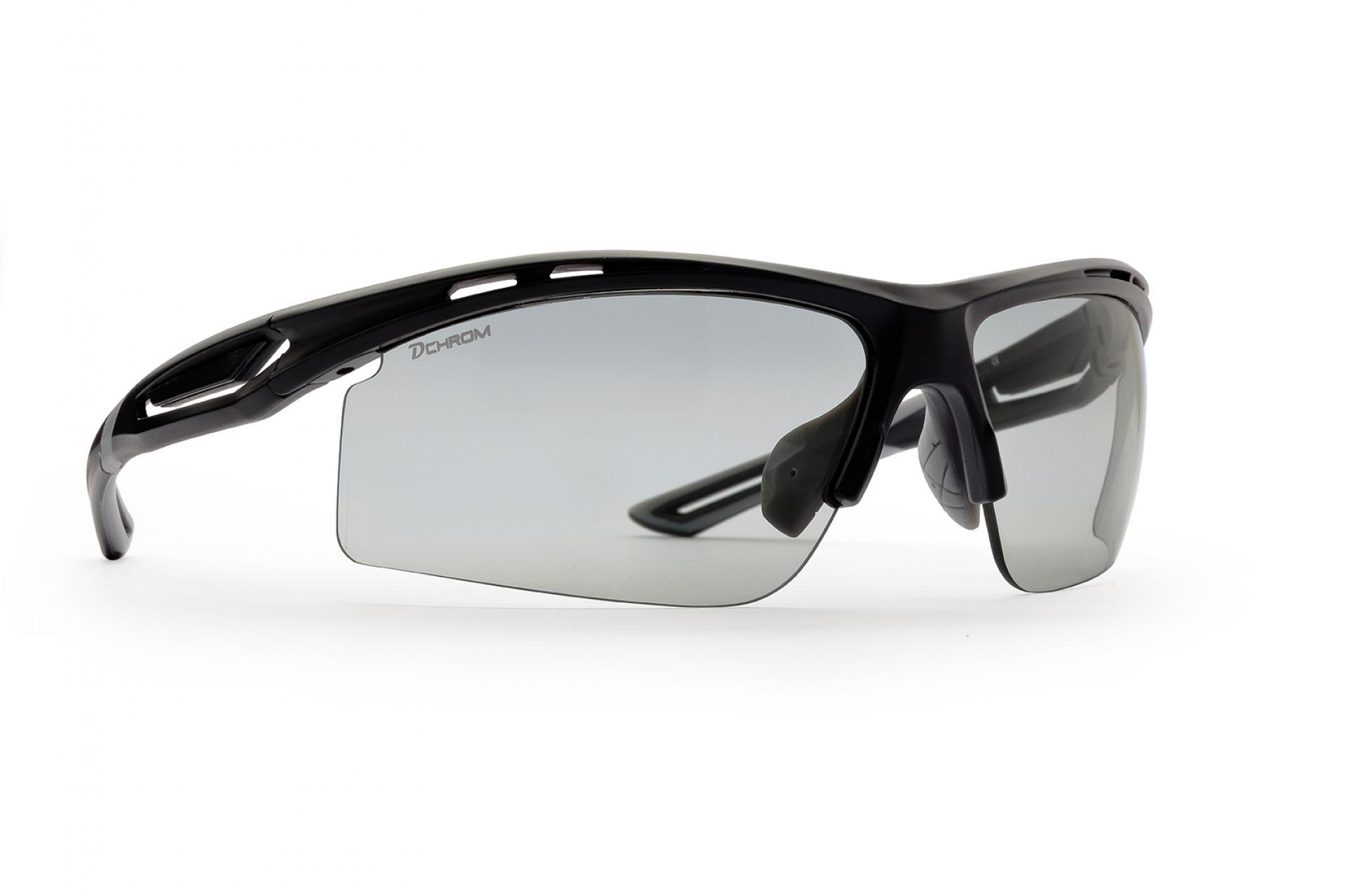 Demon Cabana DCHROM - Løbe- og cykelbrille med fotokromiske linser - Matsort   Glasses