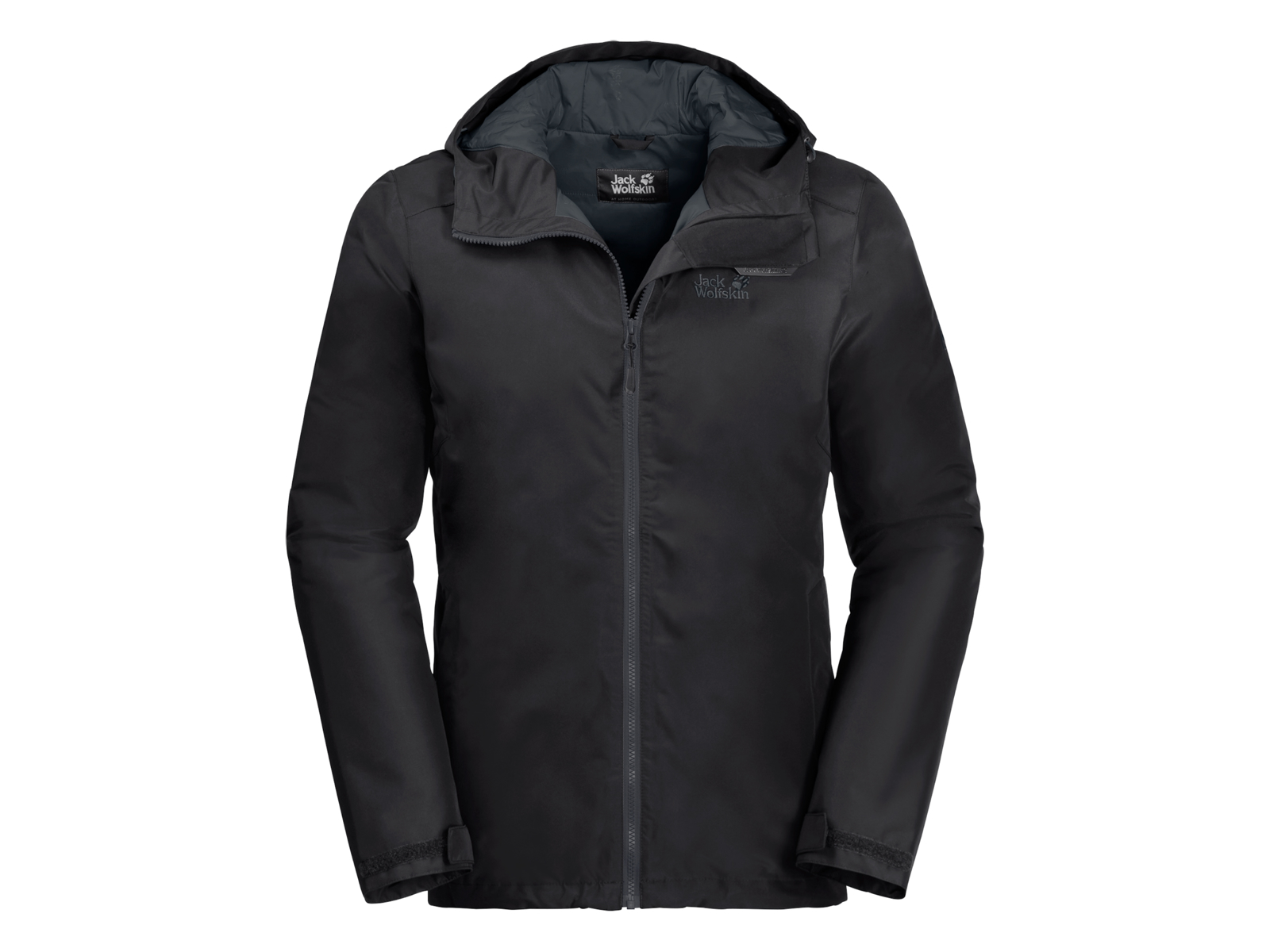 Jack Wolfskin Chilly Morning Men Vandtæt herrejakke m. for Sort (DKK 999,00)