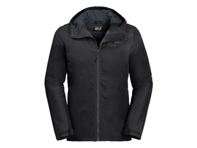 Jack Wolfskin Chilly Morning Men Vandtæt herrejakke m. for Sort