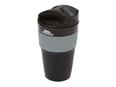 Trespass Coffeepop - Foldbar silikone kop - 355 ml. - Sort